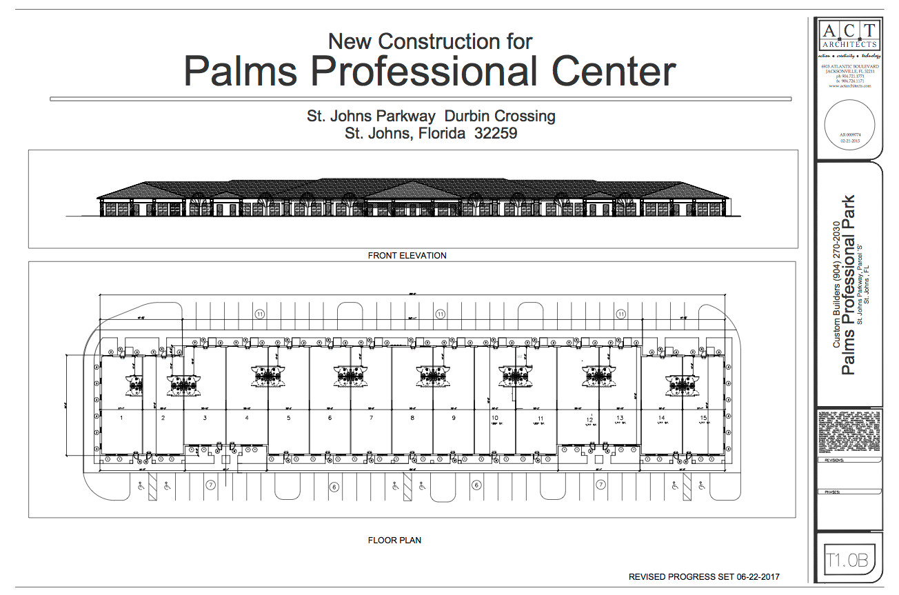 Palms Professional Park, 2084 St Johns Parkway, St Johns, FL 32259, 1675 sf to 26,000 sf, professional office